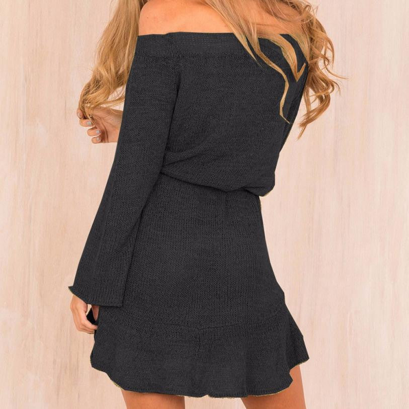 Knit Belted Dress
