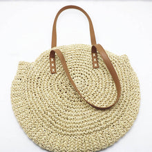 Load image into Gallery viewer, Hand Woven Straw Shoulder Bag