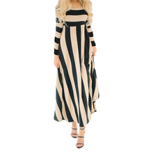 Load image into Gallery viewer, Long Sleeved Striped Maxi