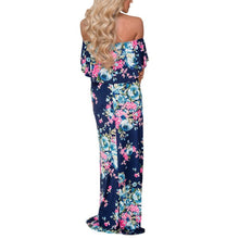 Load image into Gallery viewer, Floral Off Shoulder Maxi