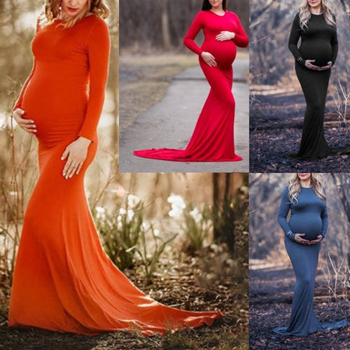Glam Maternity Photo Shoot Dress