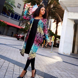 Sequin Statement Cardigan