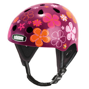 Purple Pedals (Water) - Nutcase Helmets - 1