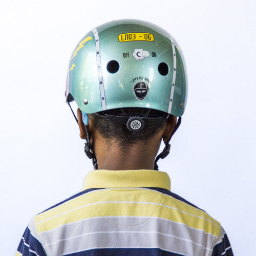 Tin Robot (Little Nutty) - Nutcase Helmets - 5