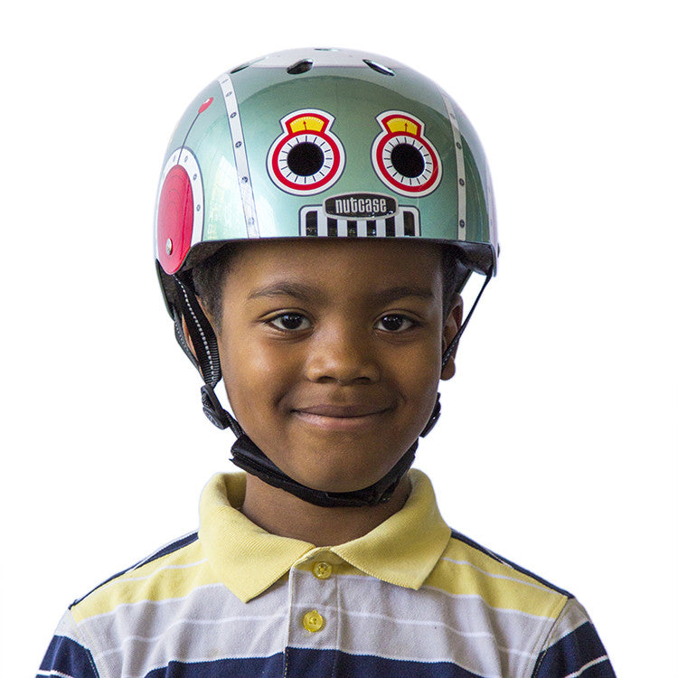 tin robot little nutty nutcase helmets. Black Bedroom Furniture Sets. Home Design Ideas