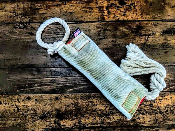 The original Tug And Go repurposed firehose (Tug Toy) - Montana Select Premium Pet Products.