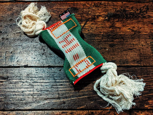 Repurposed firehose catnip cat toy - Montana Select Premium Pet Products.