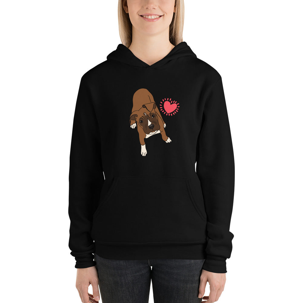 Boxer Love Bella+Canvas women's Pullover hoodie - Montana Select Premium Pet Products.