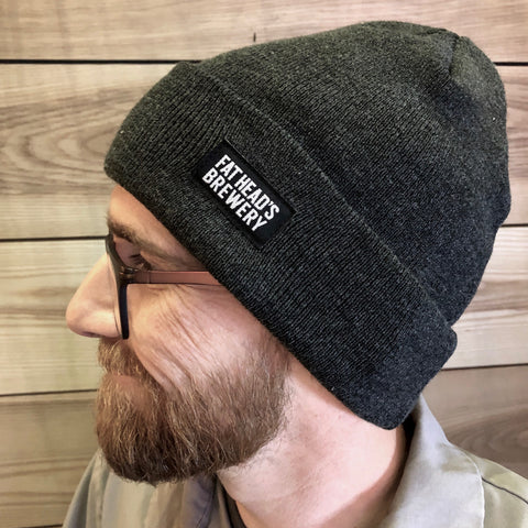 Woven Labeled Brewer's Beanie
