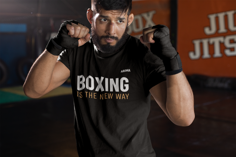 boxeur avec t-shirt boxing is the new way ARIMA Defense