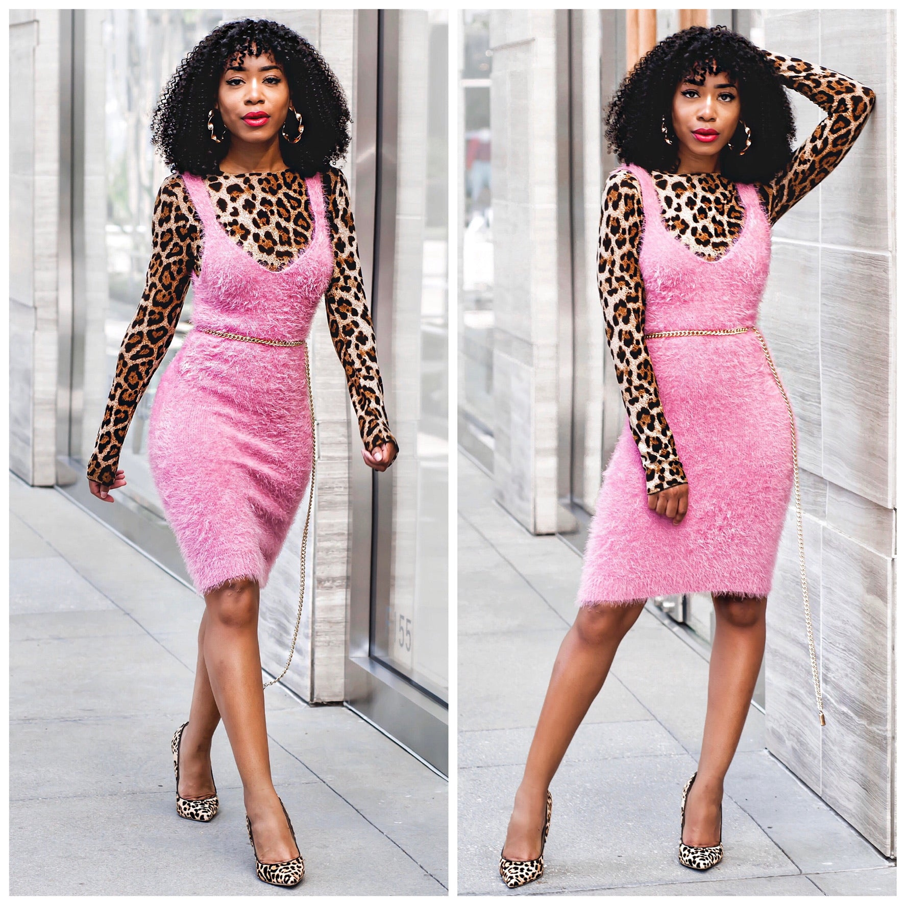 """As If"" in this Pink Fur Dress"