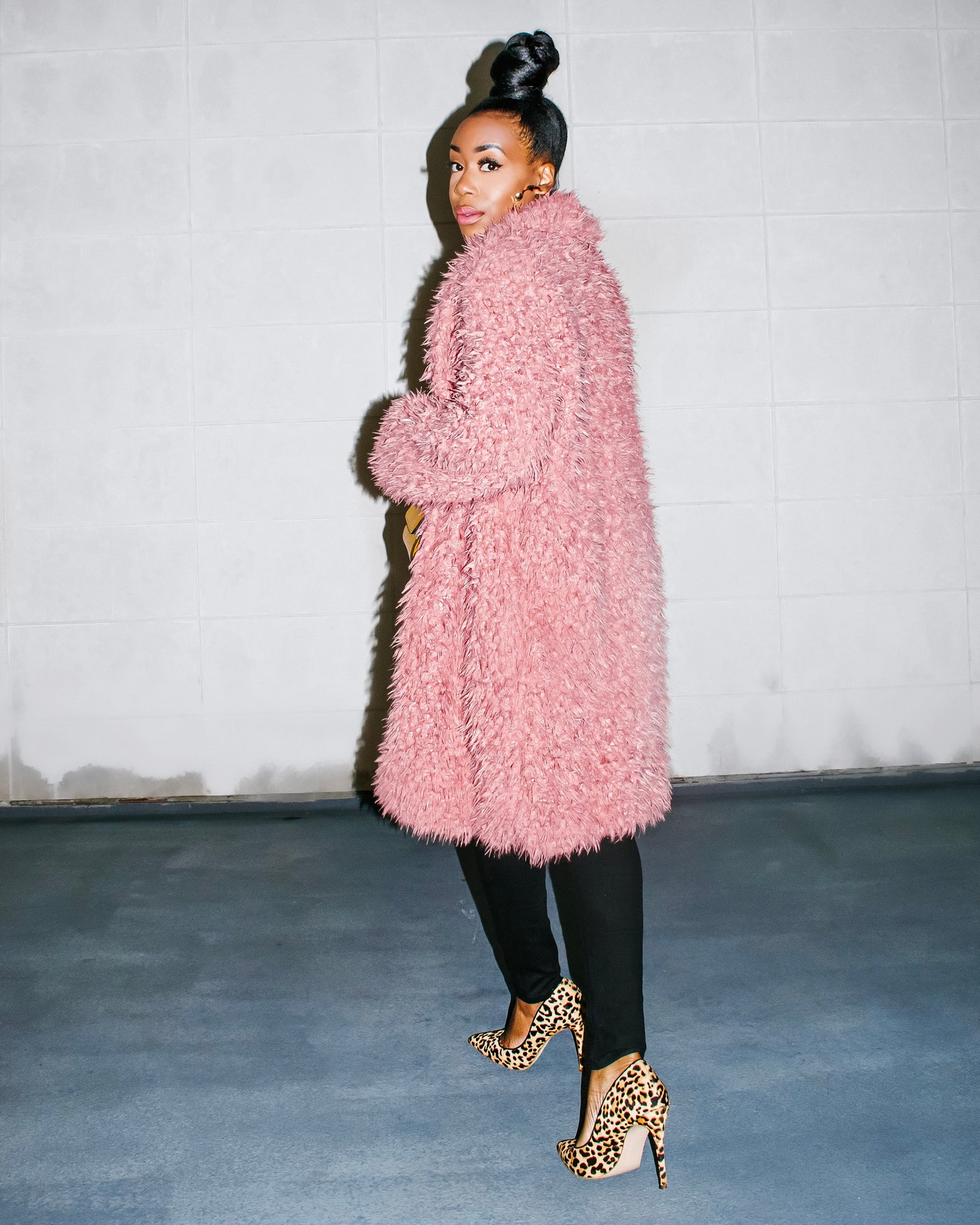Pink Faux Fur Coat - The CN Brand