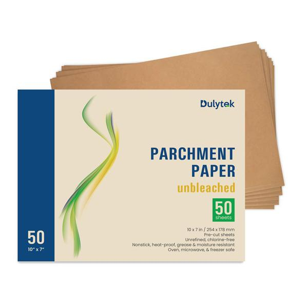 "Buy Dulytek 50-sheet Unbleached Rosin Press Parchment Paper Pre-cut 10"" X 7"" - In Stock - Low Price Guarantee - Blooming Flora"