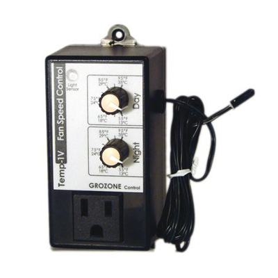 Buy Grozone TV1 Temp-1V Day/Night Fan Speed Controller - In Stock - Low Price Guarantee - Blooming Flora