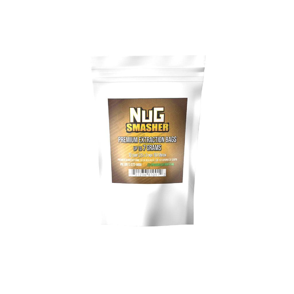 Buy NugSmasher 7 Gram Premium Extraction Rosin Bags (12 packs) - In Stock - Low Price Guarantee - Blooming Flora