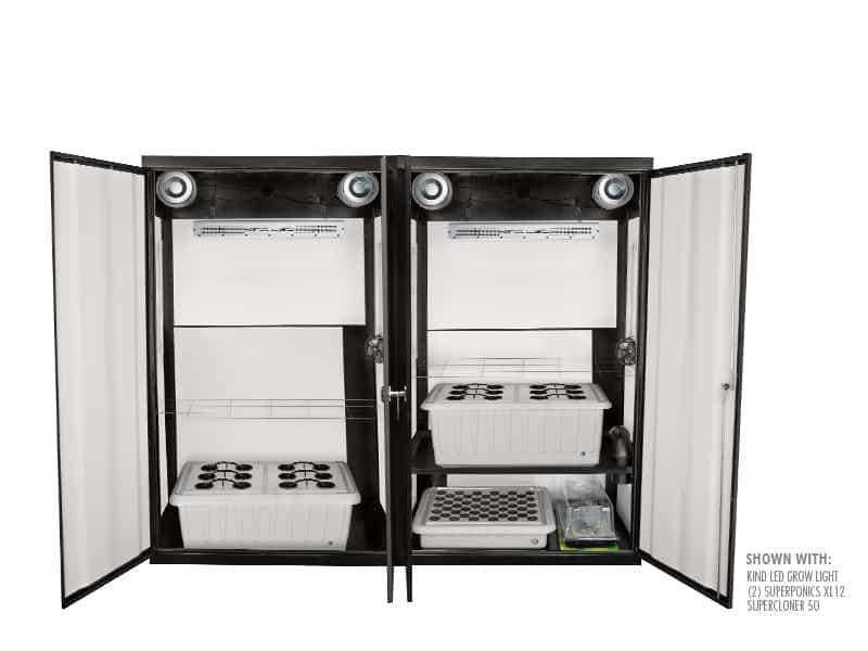 "Buy SuperCloset SuperTrinity 92"" x 24"" x 78"" LED Grow Cabinet - In Stock - Low Price Guarantee - Blooming Flora"