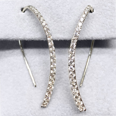 Diamond Earrings - Tapered Bead Set .69tw