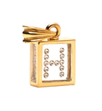 Floating Diamond Pendant: 14k Yellow Gold (A-Z)