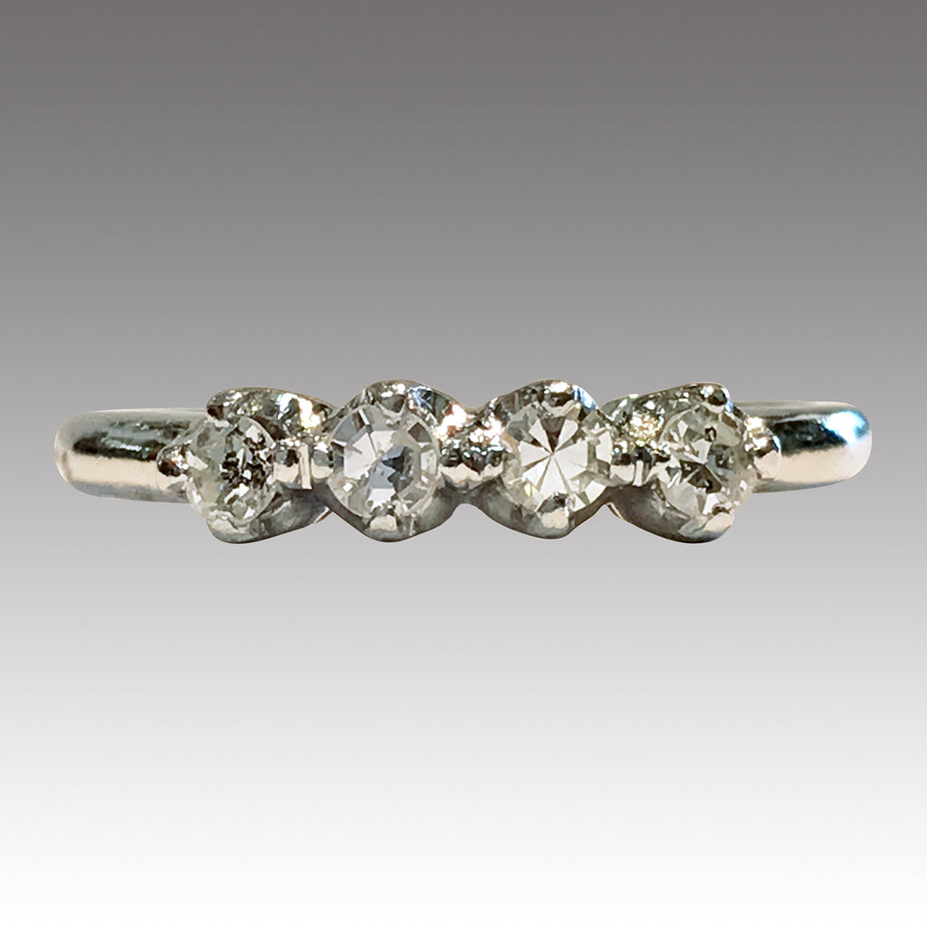 princess and p ring baguette shoulders asp white cut four stone gold diamond k centre size