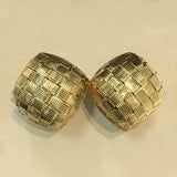 Roberto Coin Appassionata Woven 18k Yellow Gold Earrings