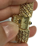 Vintage Seiko Quartz Ladies 14k Yellow Gold Watch