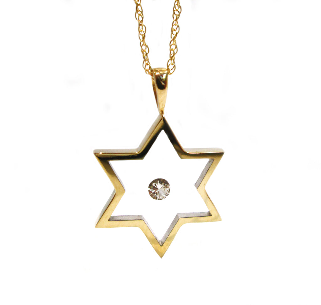 Floating diamond solitaire star shaped pendant incogem floating diamond solitaire star shaped pendant mozeypictures Choice Image