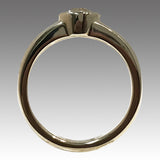 Vintage Euro Cut Diamond Bezel Set in a 14k Yellow Gold Band, 0.85ctw, Size 7