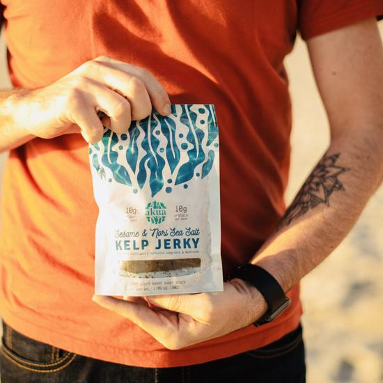Load image into Gallery viewer, Akua Kelp Jerky: Sesame & Nori Sea Salt (3-pack)