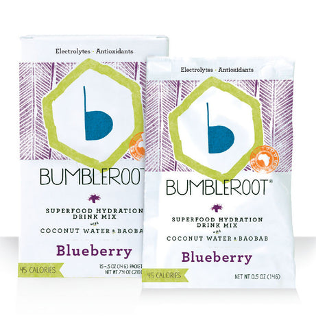 Bumbleroot Superfood Hydration Drink Mixes with Baobab and Coconut Water - Blueberry (15 packets)