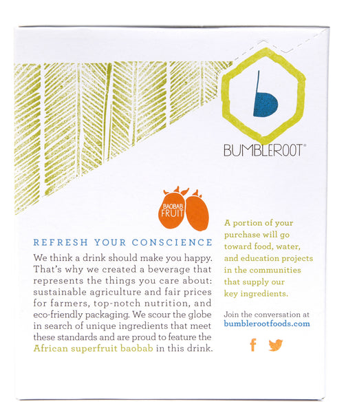 Bumbleroot Superfood Hydration Drink Mixes - Lemongrass (15 packets)