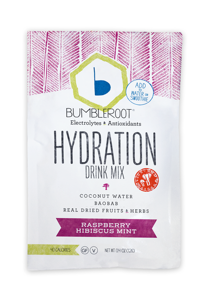 10 Pack - Raspberry Hibiscus Mint Hydration Drink Mix