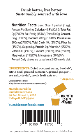 Snack Bundle: Roam Free Bison Bites (Original) & Bumbleroot Hydration Mix (5 - Turmeric Ginger)