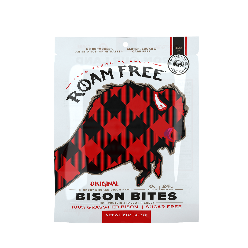 Roam Free Bison Bites: Original (2-pack)