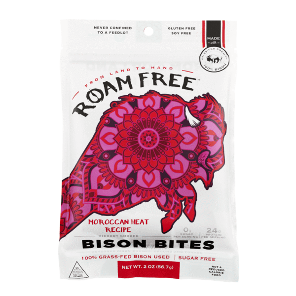 Load image into Gallery viewer, Roam Free Bison Bites: Moroccan Heat  (2-pack)