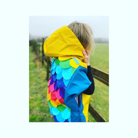 Wyatt and jack rainbow mermaid poncho now live made from inflatables and bouncy castles