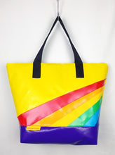 Load image into Gallery viewer, Retro Rainbow Oversized Weekender / XL Tote
