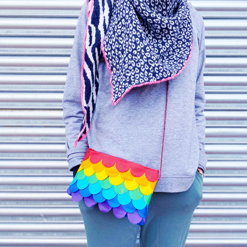 Rainbow Mermaid String Pouch