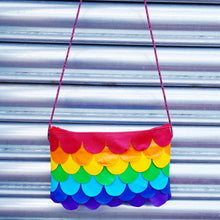 Load image into Gallery viewer, Rainbow Mermaid String Pouch - wyattandjack®