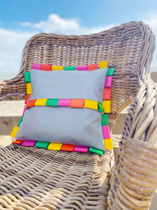 Home&Spaces Large Outdoor Cushion Cover / Multicolour Tabs