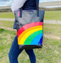 Load image into Gallery viewer, Curved Rainbow Tote