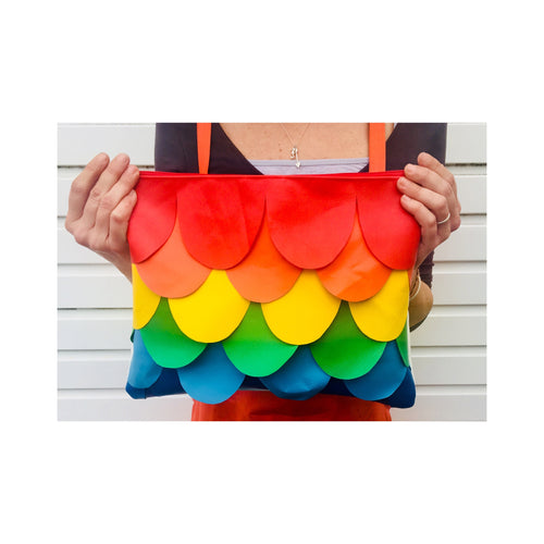 Rainbow Mermaid Zip Clutch