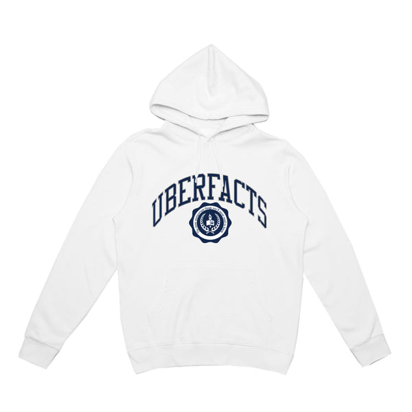 UBERFACTS UNIVERSITY HOODIE (WHITE)
