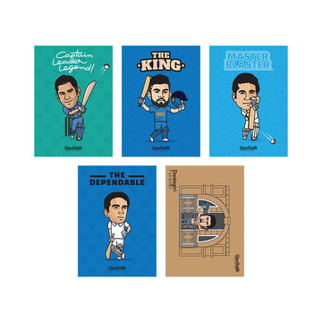 Team India Cricket Heroes [Set of 5]