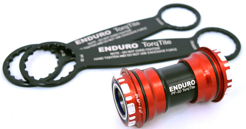 Enduro TorqTite BB PF30 to 24mm Angular Contact Steel Bearings