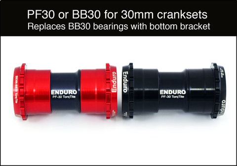 Enduro TorqTite BB30 / PF30 to 386EVO Crank - A/C Steel Bearings