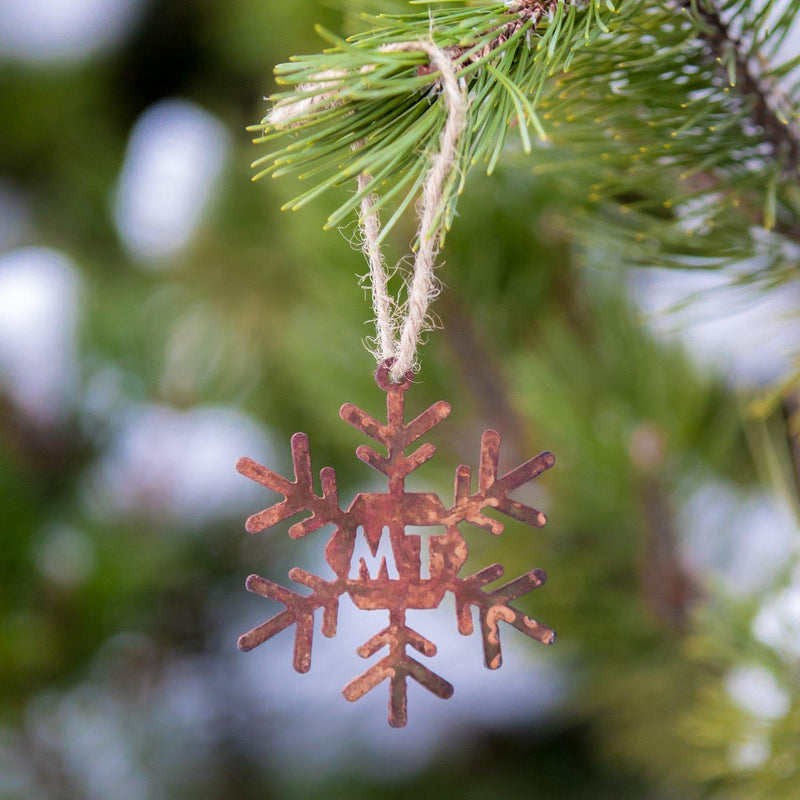 Snowflake Montana Ornament - MONTANA SHIRT CO.