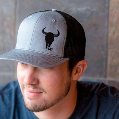Bison Skull MT Hat - MONTANA SHIRT CO.