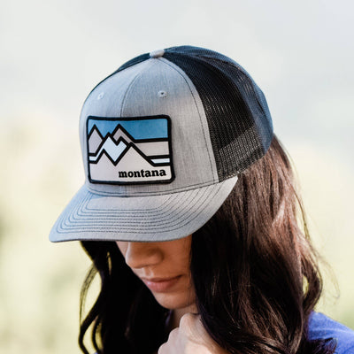 Colorblock Mountains Hat - MONTANA SHIRT CO.