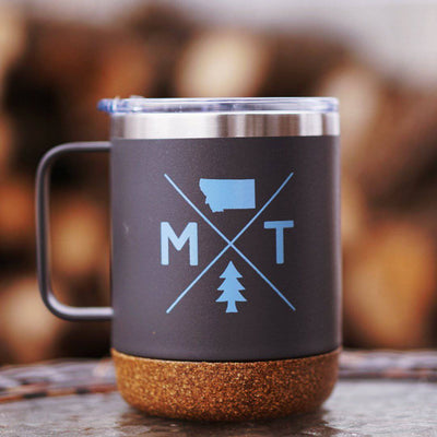 MT Logo Cork Camper Mug - MONTANA SHIRT CO.