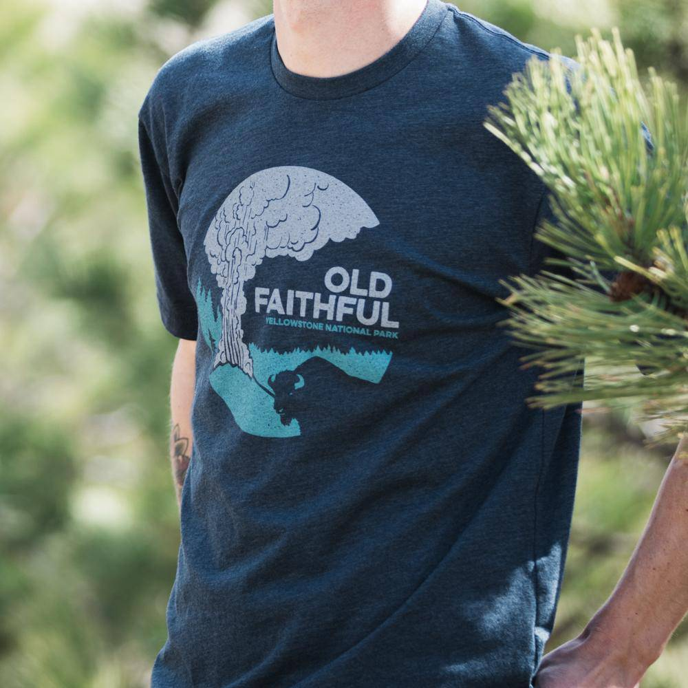 Old Faithful - Yellowstone Park - MONTANA SHIRT CO.